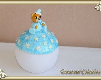 Light blue Teddy bear baby 204003