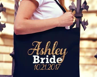 Bride Tote Bag, Bride to be, Bridal shower gift, Personalized Bride tote bag, Fiance' tote bag