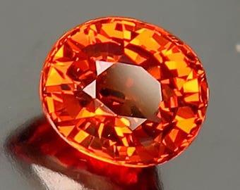 1.53ct Bright Mandarin Orange Spessartite Garnet - Oval facet cut VVS gem