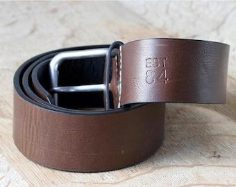 Dark Brown Unisex Leather Bealt Size 30/32