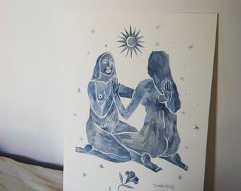 Eclipse, Original Drawing, Original Artwork