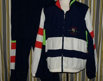 Vintage Head Sportswear Tennis Lined Nylon Track Suit Jacket and Pants Size XL