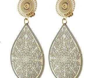 Earring Clip Golden Fez (made in France)