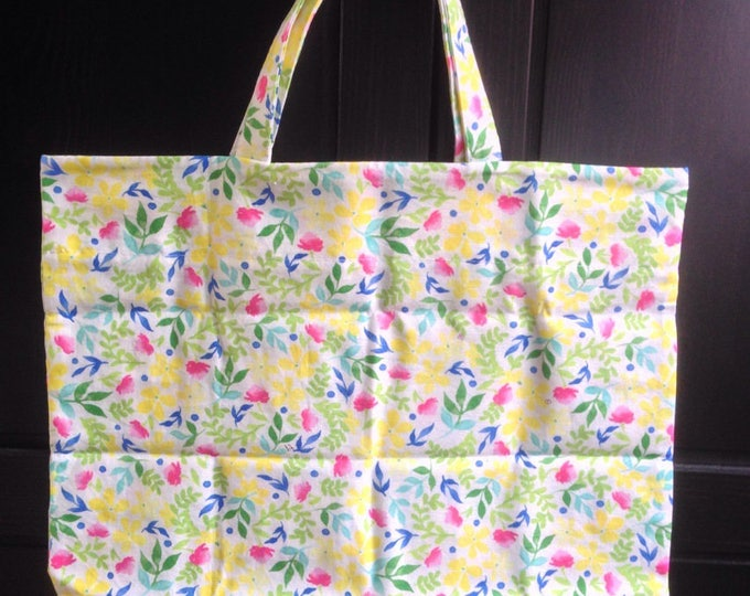Foldable shopping bag in cotton fabric