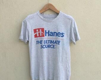 Vintage Hanes Spell Out Logo Tshirt