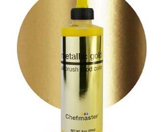 Chefmaster Edible Metallic Gold airbrush color 9oz