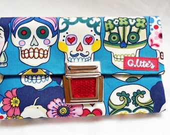 Wallet, purse, purse, stock exchange, skull, skull, Frida, folklore