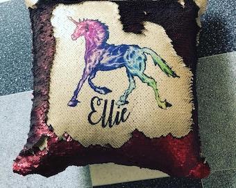 Any text sequin cushion!