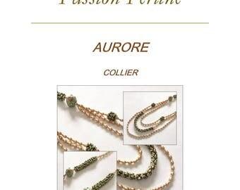 Pattern necklace AURORE