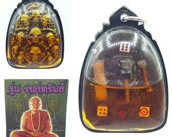 Thai amulets Prai Khum Hang Lucky Gambling Gambler amulets Hong Prai in Hypnotizing prai oil Lucky pendant charms good fortune Aj Manit