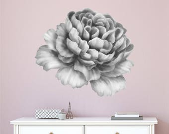 Peony Wall Decal Etsy - Wall decals in pakistanblack flowers removable wall stickers wall decals mural home art