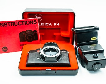 Leica R4S (body only) with original manual, TTL flash, in original box, MINT condition!