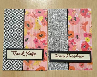 Card set of 4 cards | Thank you cards| Greeting cards | Birthday cards