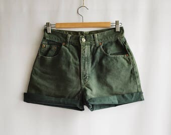Green Vintage military shorts