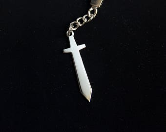 Steel Keychain or pendant SWORD, Excalibur - FREE SHIPPING
