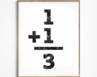 Family numbers. Family sign. Printable numbers. Instant download