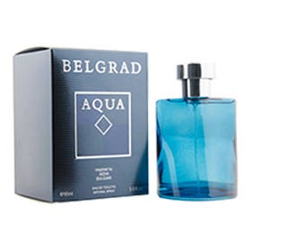 BELGRAD AQUA Pour Homme Perfume Parfum Eau De Toilette Spray 3.0 oz for Men Inspired by Aqva Bvlgari