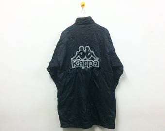 Rare!!! Kappa Jacket Parka Big Logo Embroidery Hip Hop