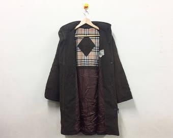 Rare!!! Burberry Trench Coat Jacket Parka Burberry London Luxury Brand