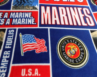 United States Marines Fleece Blankety