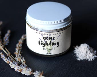 Acne Fighting Face Mask - Acne Treatment - Organic Acne Mask - Vegan Face Mask - Organic Face Mask - Anti Acne Face Mask