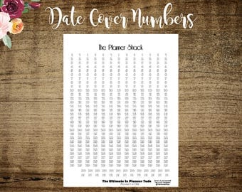 Big Happy Planner Date Cover Numbers