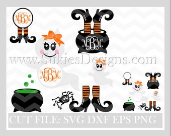 Halloween Monogram SVG File For Cricut and Cameo DXF for Silhouette Studio Cutting File Monogram svg, Halloween svg, Fall svg, Fall Monogram