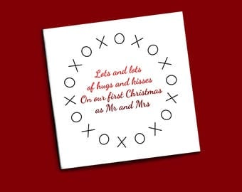 Personalised first Christmas as Mr and Mrs card, 1st Xmas as husband and wife card, First Christmas together card, Christmas card husband