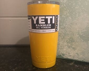 School Bus Yellow 20oz or 30oz Yeti Cup
