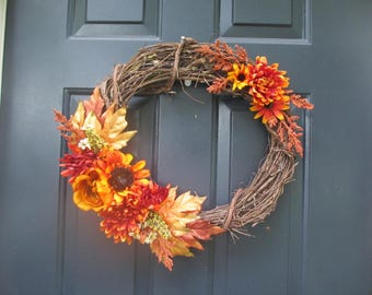 Willow branch Fall wreath