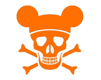 Skull Mickey Mouse with Crossbones Decal
