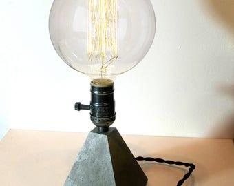 Concrete Lamp Piramide desk lamp dark gray lighting lamp home decor