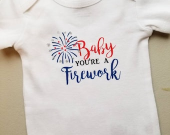 Baby You're a Firework Fourth of July Bodysuit
