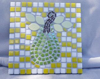 Handmade Mosaic Pear Trivet