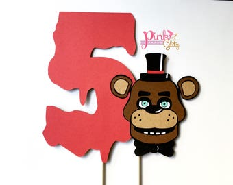 Five Nights at Freddy's cake topper, FNAF Cake Topper, Five Nights at Freddy's centerpiece, FNAF Favors, Five Nights at Freddy's Cake