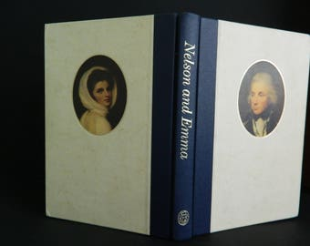 Vintage book Nelson and Emma Horatio Nelson and Lady Hamilton vintage history book hardback book cloth spine