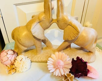 Lovely stone elephants