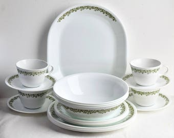 "Set of 20 Piece Corelle ""Spring Blossom"" Dinnerware  by Corning/Corelle by corning Dinnerware/Table 4 Place Settings"
