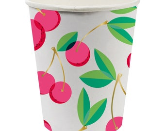 Cherry Cups, Cherry Party Cups, Fruit Party, Cherry Paper Cups, Fruit Party Cups,Twotti Frutti Party, Cherries, Twotti Frutti,Fruit Birthday