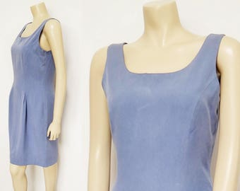Blue Dress, UK8, Laura Ashley, Secretary Dress, Sleeveless Blue Dress, Ladies Clothing, Women's Dresses, Vintage Dress, Wedding Guest Dress