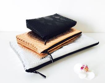 Kit bronze crocodile Rock - vegan leather