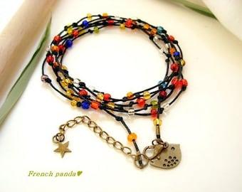 beautiful 1 bracelet Boho style Indian glass beads.