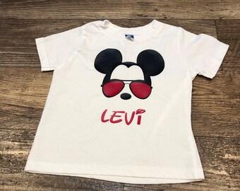 Personalized aviator mickey shirt