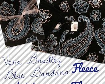 Vera Bradley Fleece Throw Blue Bandana