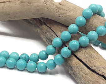 Turquoise Howlite beads 6 mm in diameter - set of 30/60/90 pieces - turquoise bead 6 mm - Ref A198
