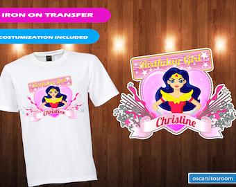 Dc superhero girls iron on transfer/Wonderwoman iron on transfer/ Digital Wonderwoman dc superhero girls iron on transfer/ printable
