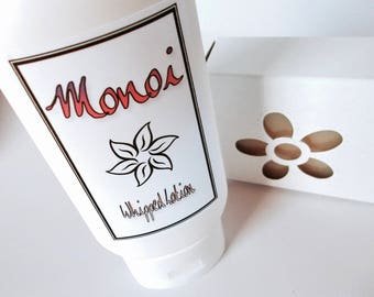 Monoi Gift Set - Whipped Body Lotion - Cold Process Soap - Tiare - Gardenia - Monoi Oil - Organic Sunflower Oil - Almond Oil