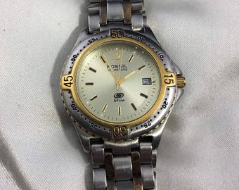 Men's Fossil Blue Two Tone Watch