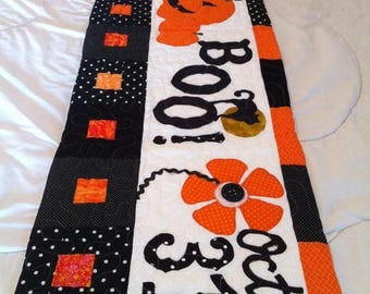 Halloween Quilted Bench Pillow Cover