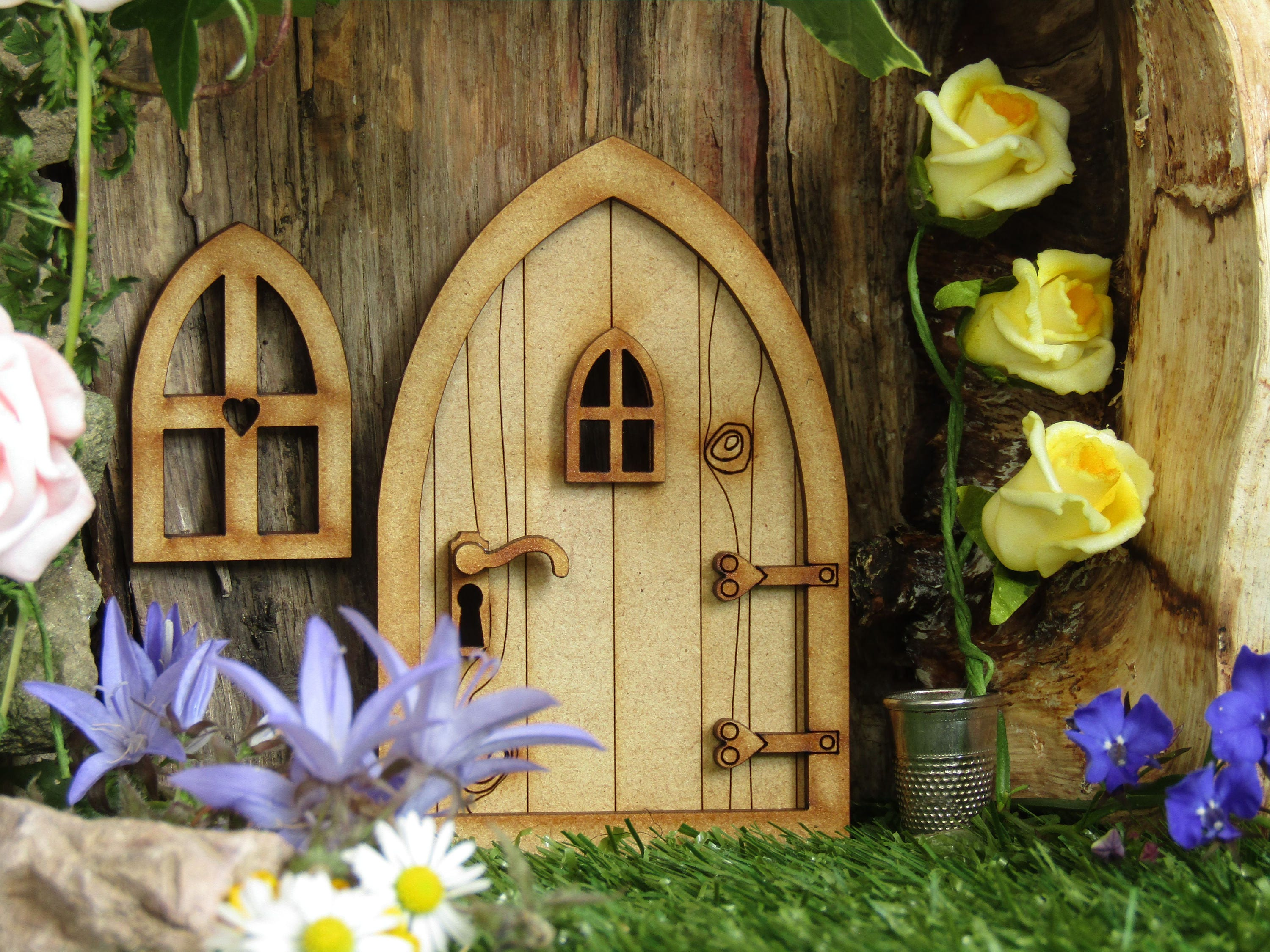 Country cottage wooden 3d fairy door craft kit with fairy for Fairy door kits canada